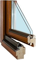 Details Holzfenster IV 68 Basic
